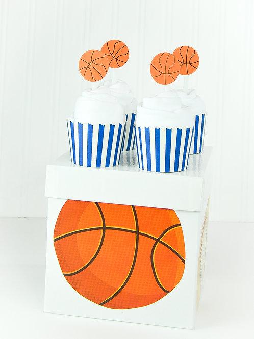 Basketball - Baby Onesie Cupcakes