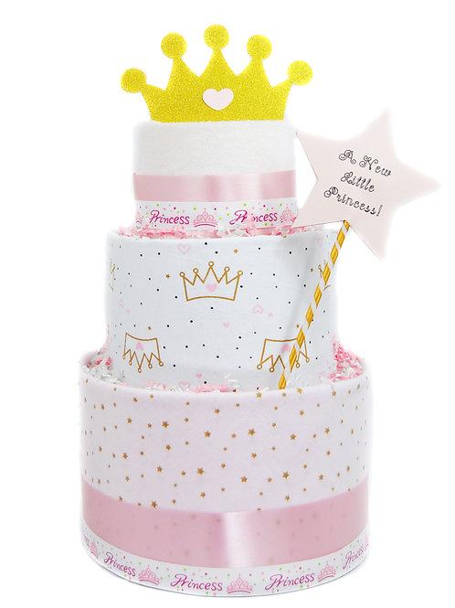 Princess Diaper Cake - Baby Girl Diaper Cake