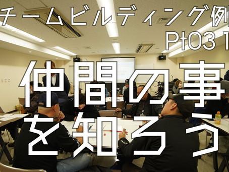 「仲間の事を知ろう!」チームビルディング例会Pt.03 1/3 Youtube配信開始!