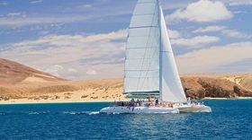 Boat and Catamaran Sailing at Fuerteventura