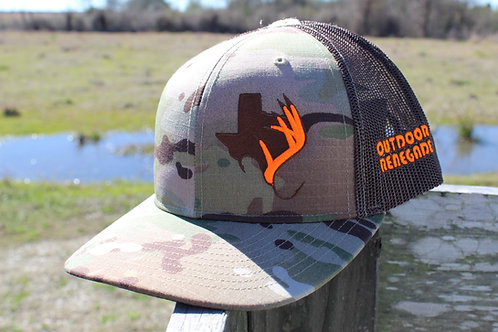 Outdoor Renegade TXANTLER CAP: Multi-Cam, Coyote Brown & Hunter Orange