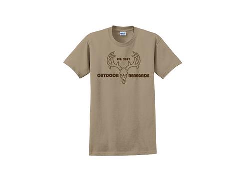 """Outdoor Renegade """"Deer Skull"""" Cotton T-Shirt"""
