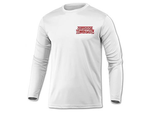 "Outdoor Renegade ""STRINGER THINGS"" Fishing Shirt (WHITE W/ RED)"