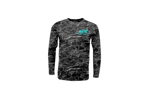 """Outdoor Renegade """"H2OR"""" Fishing Shirt (Blacktip with Ice Blue)"""