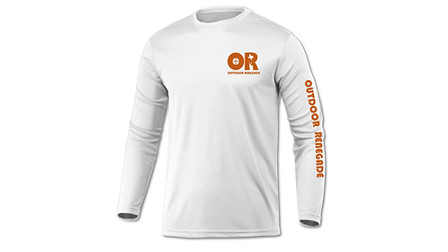 Outdoor Renegade Fishing Shirt (White with Burnt Orange)