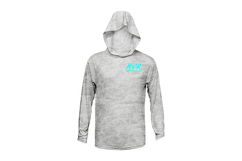 """Outdoor Renegade FIshing """"H2OR"""" Fishing Shirt - Hooded (Bonefish with Ice Blue)"""