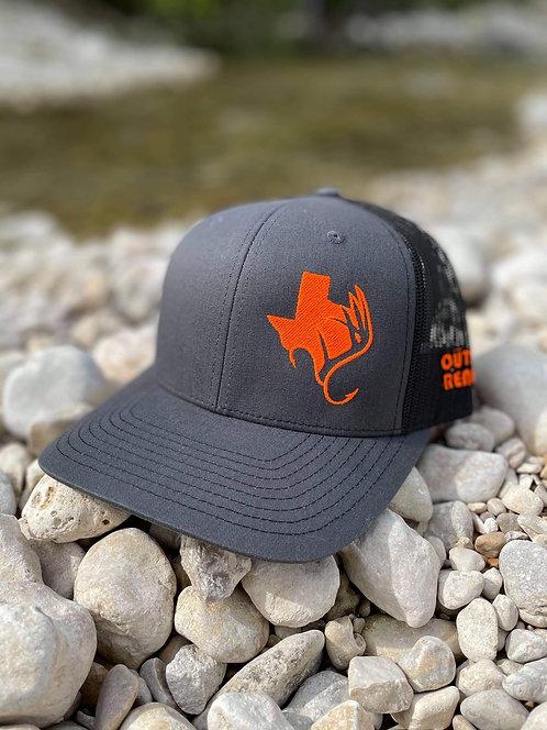 TXANTLER CAP (Charcoal/Blk w/ Neon Orange)