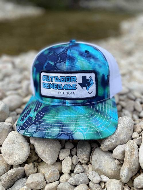Outdoor Renegade Patch Cap (Kryptek Pontus / White)