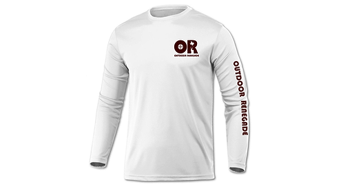 Outdoor Renegade Fishing Shirt (White with Maroon) TXHOOKS