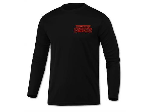 "Outdoor Renegade ""STRINGER THINGS"" Fishing Shirt (Black W/ RED)"