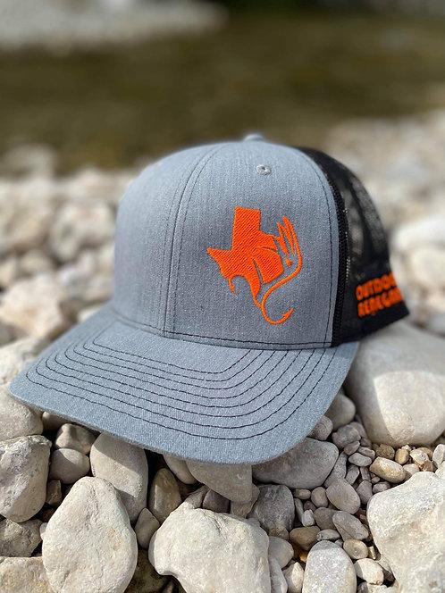 TXANTLER CAP (Heather Gray/Blk with Neon Orange)