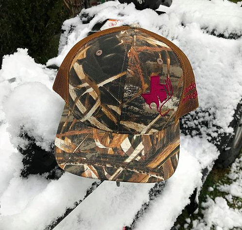 TXANTLER Outdoor Renegade Cap (Realtree Max 5/Buck Camouflage with Maroon)