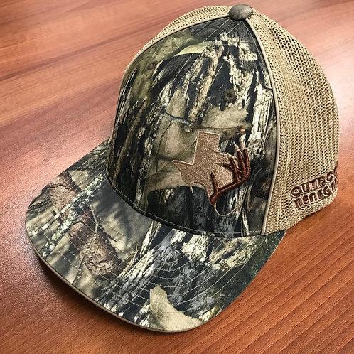 Outdoor Renegade TXANTLER Cap Flex-Fit (Mossy Oak, Khaki Mesh with Brown Antler)