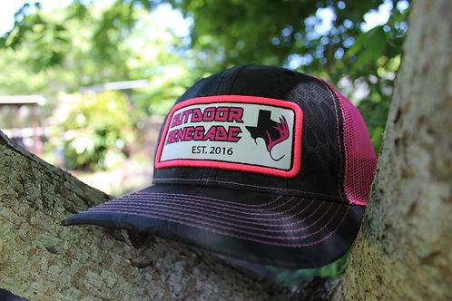 Outdoor Renegade Patch Cap (Kryptek Typhon with Neon Pink)