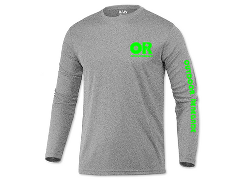 Men's Outdoor Renegade Fishing Shirt (Heather Grey with Neon Green)