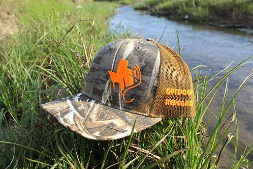 Outdoor Renegade TXANTLER Cap (Realtree Max 5/Buck with Hunter Orange/BLK)