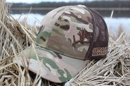 Outdoor Renegade TXANTLER Cap (Multi-Cam & Coyote Brown)