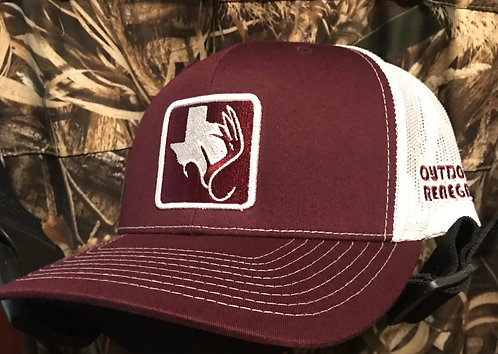 Outdoor Renegade Patch Cap - (Maroon/White)