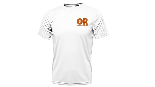 Outdoor Renegade Fishing Shirt: Short-Sleeve (White w/ Burnt Orange)
