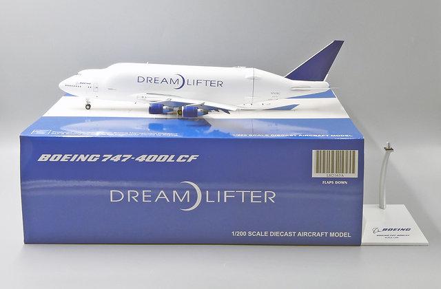 Boeing Dreamlifter B747-400LCF N747BC JC Wings FLAPS DOWN 1:200 Diecast LH2163A