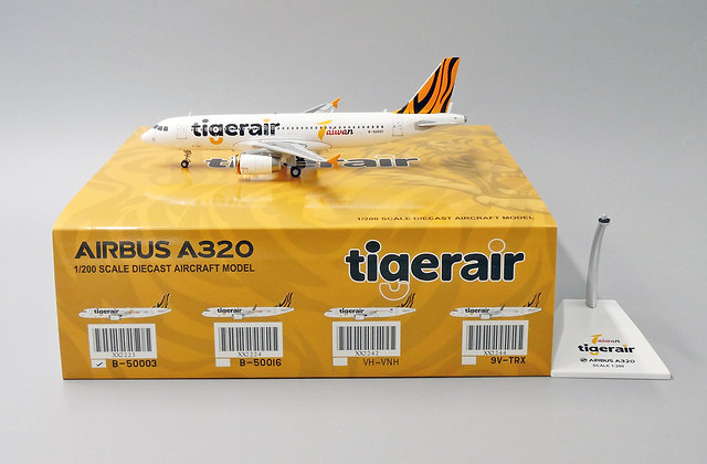 Tigerair Taiwan A320 Reg:B-50003 JC Wings Scale 1:200 Diecast Models XX2223