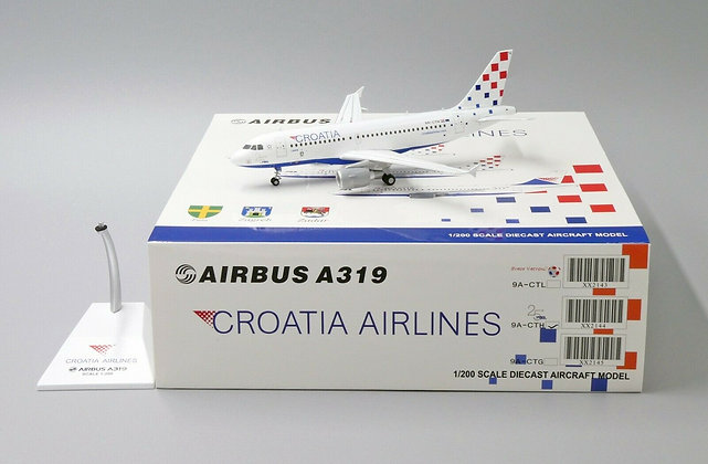 Croatia Airlines A319 Reg: 9A-CTH JC Wings Scale 1:200 Diecast Model XX2144