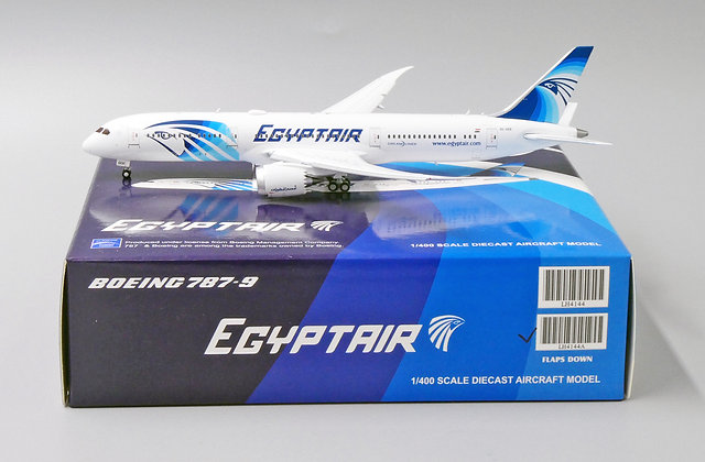 EgyptAir B787-9 FLAPS DOWN Reg:SU-GER JC Wings Scale 1:400 Diecast Model LH4144A