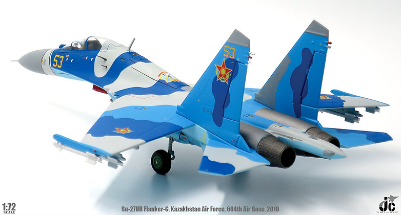 SU-27UB Flanker-C Kazakhstan Air Force 604th Air Base 1/72 JCW-72-SU27-004