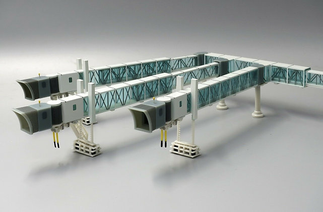 SPECIAL OFFER 1:200 Airport Passenger Bridge and KLM GSE set LH2090+XX2026