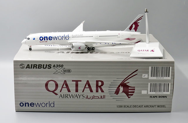 Qatar A350-900 One World Reg:A7-ALZ Scale 1:200 JC Wings Diecast Model XX2050
