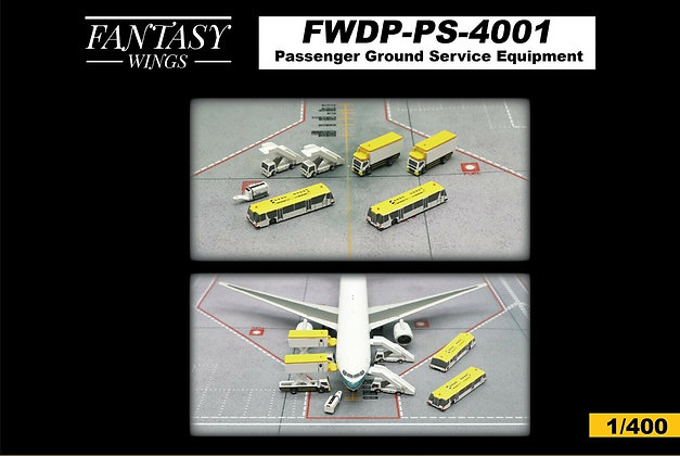 Passenger Ground Service Equipment Scale 1/400 Fantasywings FWDP-PS-4001