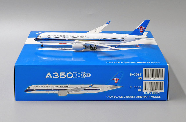 China Southern A350 XWB Reg: B-308T JC Wings Scale 1:400 Diecast Model XX4173