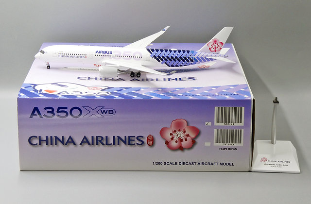 China Airlines A350-900 Reg:B-18918 JC Wings Scale 1:200 Diecast Model XX2141