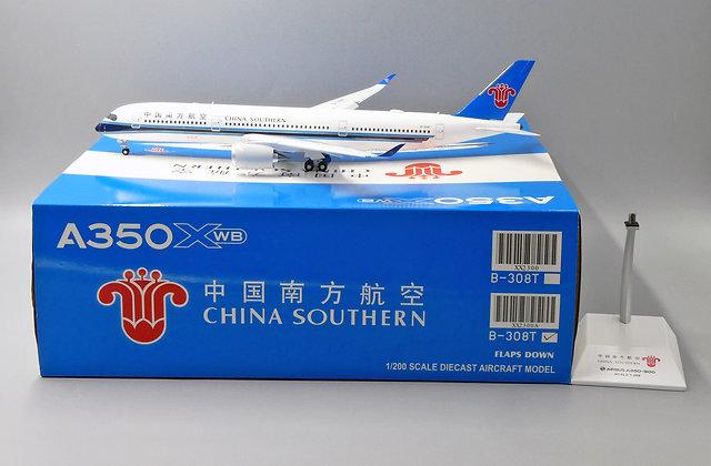 China Southern A350XWB Reg: B-308T JC Wings Flaps Down 1:200 Diecast XX2300A