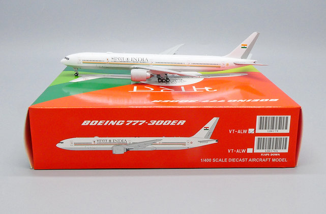 India Government B777-300ER Reg: VT-ALW JC Wings Scale1:400 Diecast Model LH4179