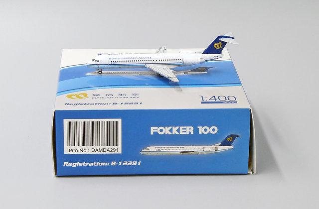 Mandarin F-100 Reg:B-12291 JC Wings Diecast Model Scale 1:400 DAMDA291