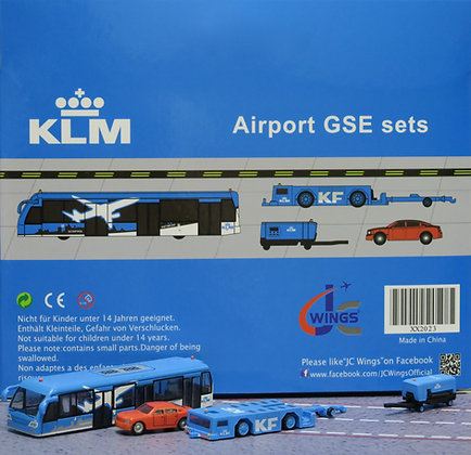 KLM GSE set JC 1:200 Airport Scenic Series Ground Services Equipment XX2023