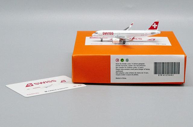 Swiss A320Neo Reg: HB-JDB EW Wings Scale 1:400 Diecast Model EW432N002