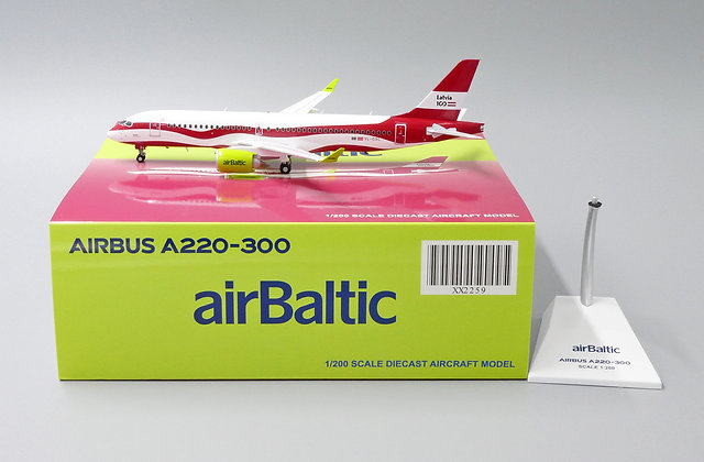 airBaltic A220-300 Reg:YL-CSL JC Wings 1:200 Diecast Model XX2259
