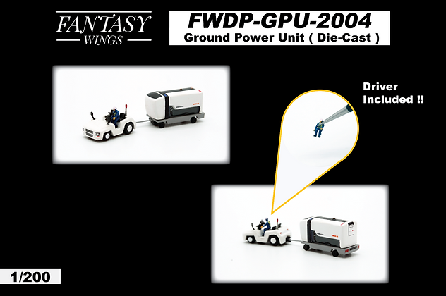 Ground Power Unit Set Scale 1:200 Diecast Fantasywings FWDP-GPU-2004