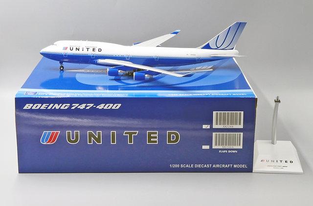 /LAST/United Airlines B747-400 Reg: N104UA JC Wings Scale 1:200 Diecast XX2266