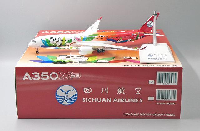 Sichuan Airlines A350-900 Reg: B-301D JC Wings Scale 1:200 Diecast Model LH2116