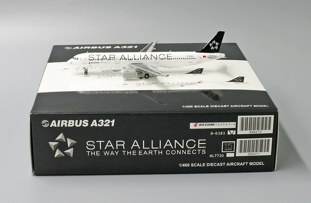 Air China A321 Star Alliance B-6383 Scale 1:400 JC Wing XX4070