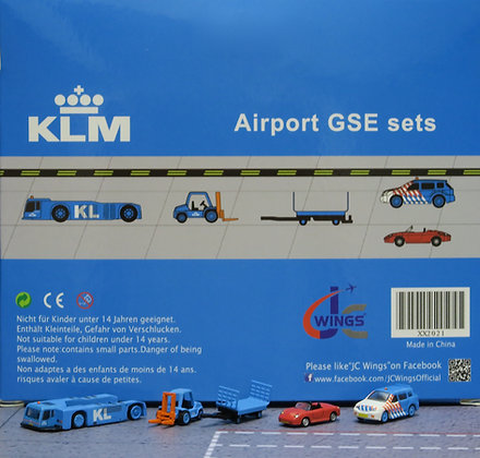 KLM GSE set JC 1:200 Airport Scenic Series Ground Services Equipment XX2021