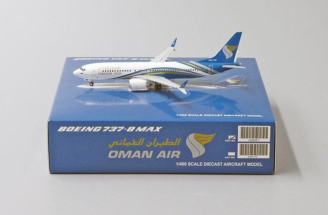 OMAN AIR B737-8MAX Reg: A4O-MA JC Wings Scale 1:400 Diecast Models LH4087