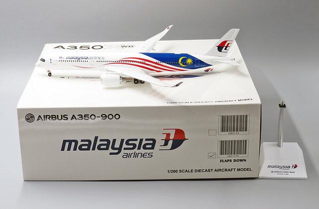 "Malaysia A350-900 "" Negaraku "" FLAPS DOWN JC Wings 1:200 Diecast models LH2119A"