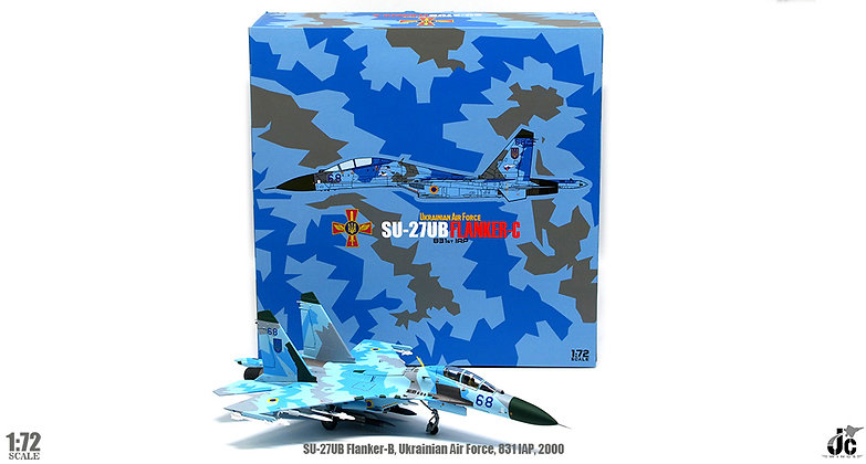 Su-27UB Flanker-C Ukrainian Air Force, 831IAP, 2000 Blue 68 1/72 JCW-72-SU27-009