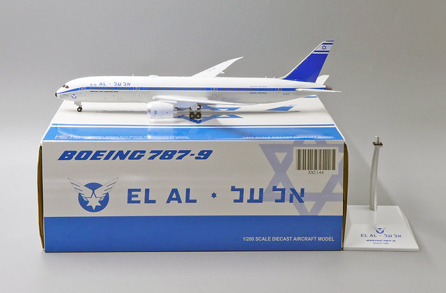 EL AL Israel B787-9 Retro Reg: 4X-EDF JC Wings Diecast Scale 1:200 XX2146