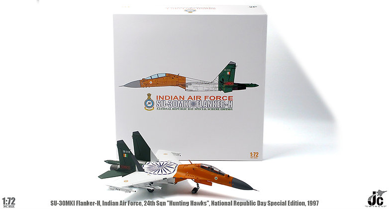 SU-30MK1 Flanker-H Indian Air Force 24th Sqn Hunting Hawks 1/72 JCW-72-SU30-005