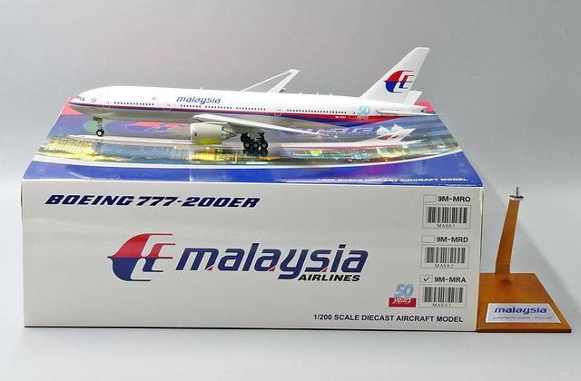 Malaysia Airlines B777-200ER Reg: 9M-MRA JC Wings 1:200 Diecast model MAS03